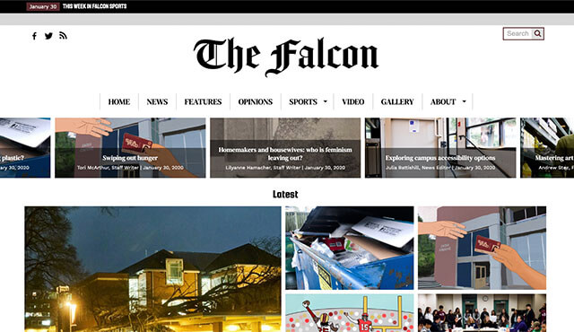 The Falcon student newspaper