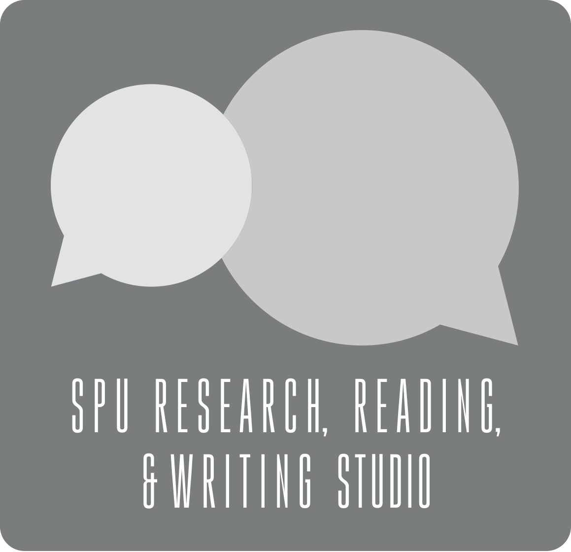 Speech bubbles SPU Research, Reading & Writing Studio