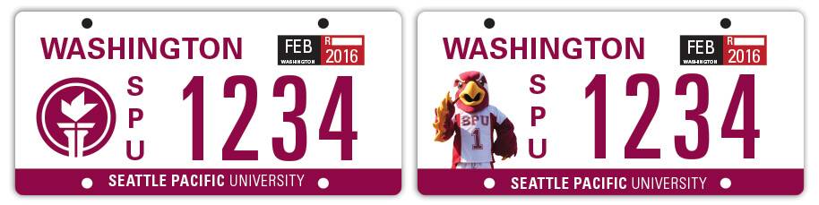 SPU License Plate design proposals