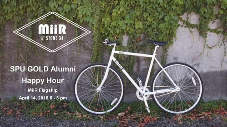 SPU GOLD Alumni Happy Hour at Miir's Flagship Store on April 14, 2016 6–8pm