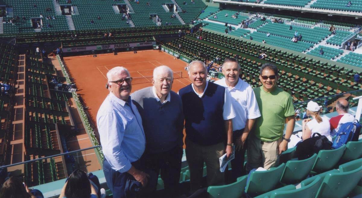Alumns at the French Open