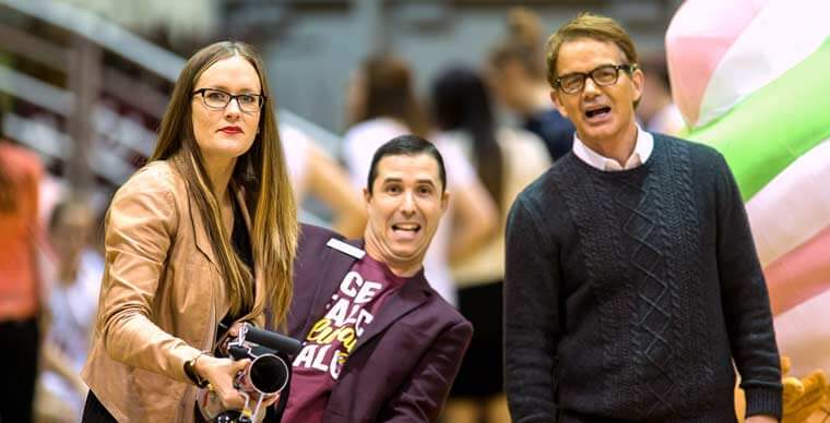 SPU Alumni of the Year at Homecoming Basketball Game