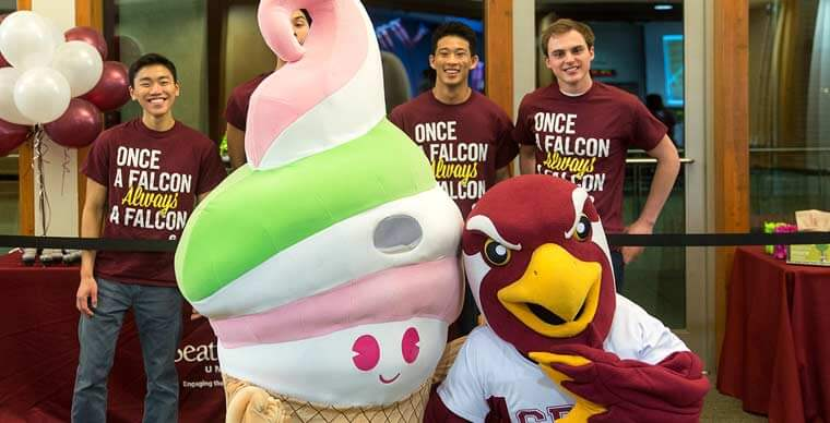 Falcon and the Menchies Mascot