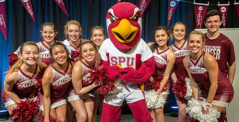 Talon and the SPU cheer squad