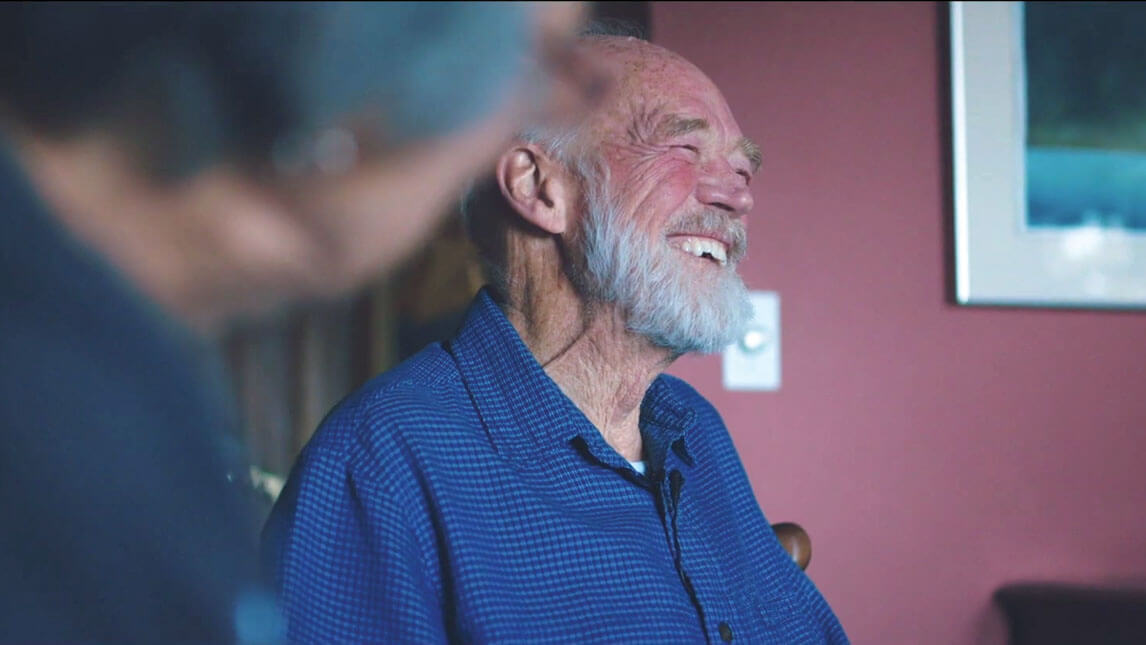 Eugene Peterson laughs with friends
