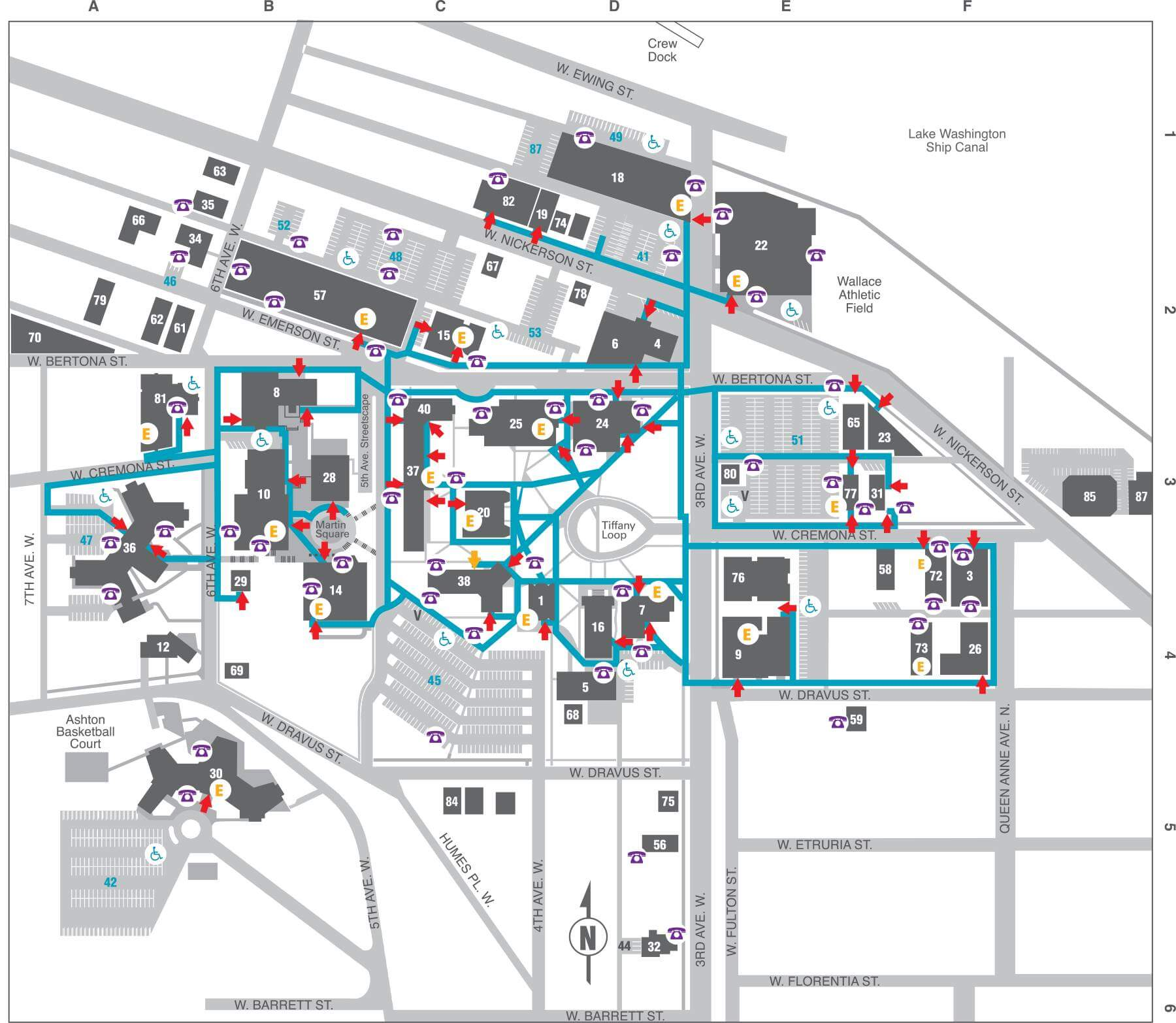 Accessibility Map Seattle Pacific University