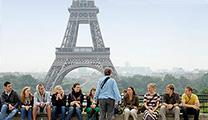 SPU students in Paris on study abroad