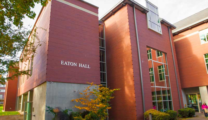 Front of Eaton Hall