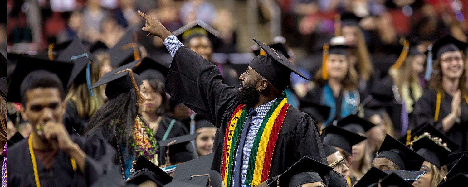 An Ames Scholar celebrates his graduation at Seattle Pacific University