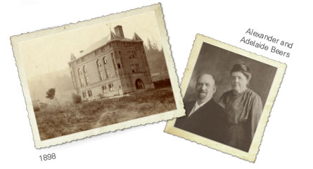 Historic photos of Alexander Hall and the Beers