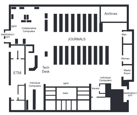 Library Map - Lower Level