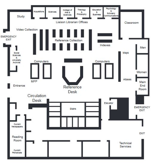 Library Map - Main Level