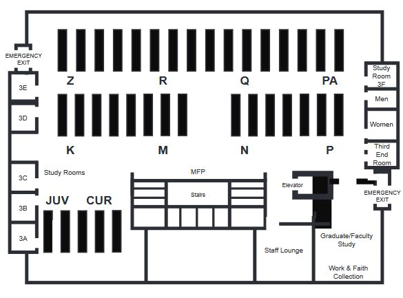 Library Map - Third Level