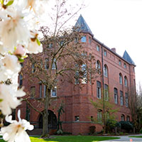 Alexander Hall on a spring morning