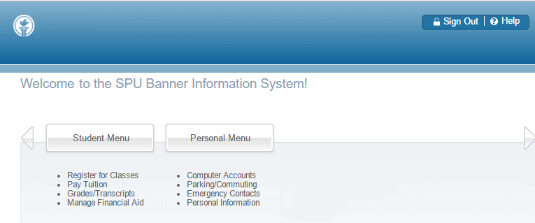 Step 1: Access Self-Service Banner