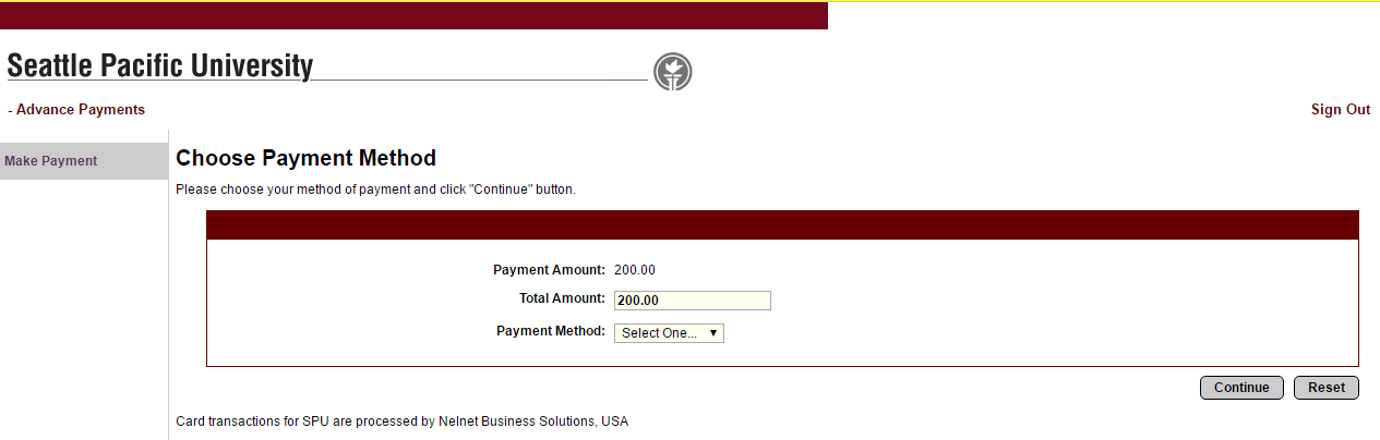 Step 4: Input payment information and submit