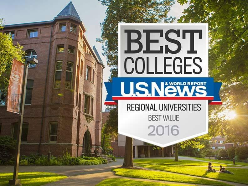 U.S. News & World Report ranked SPU number 2 for best value in the West
