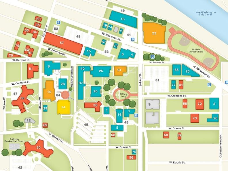 Pacific University Map Directions, Maps, and Lodging   Seattle Pacific University