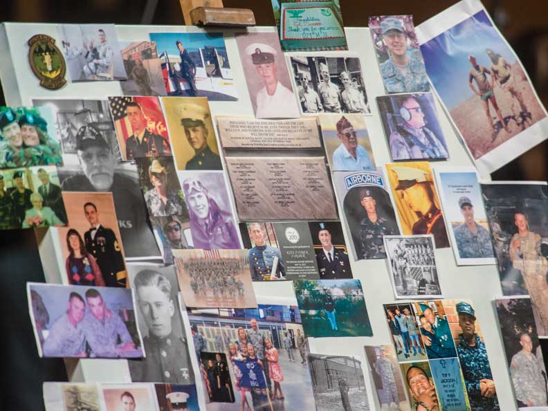 A collage of family members, loved ones who have served