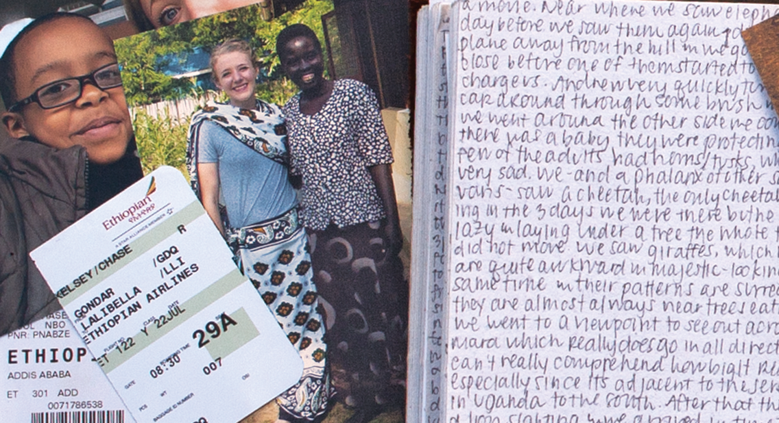 Kelsey Chase's journal from Ethiopia.