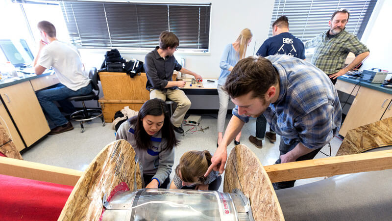 students build a windtunnel