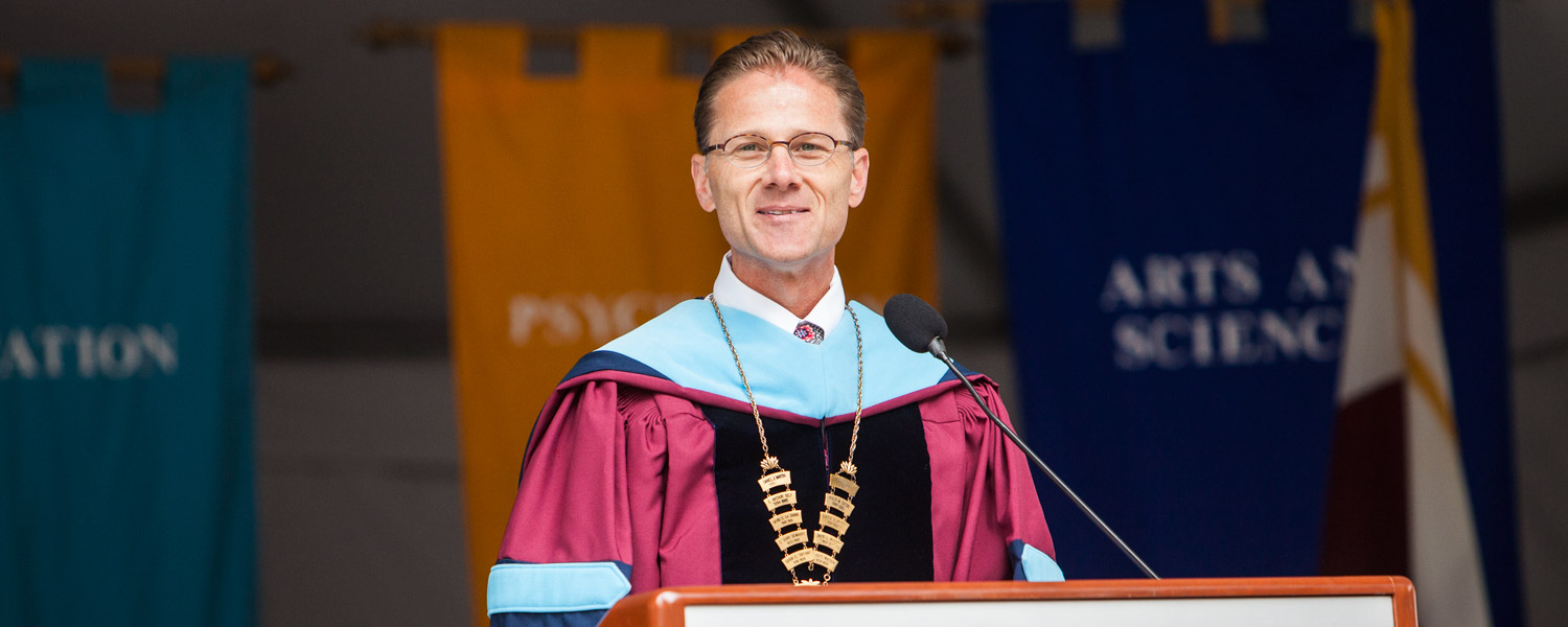 President Dan Martin at Commencement